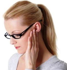 Uz ausies padidejes limfmazgis